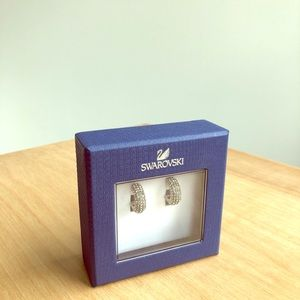 Swarovski Pave Cuff Earrings